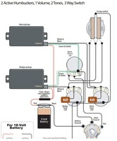 Help needed wiring in a HH1 volume 2 tone 3 way switch