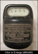 Fort wayne TYPE K Integrating watthour meter front