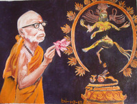 Maha Periyava prays to Lord Nataraja.jpg