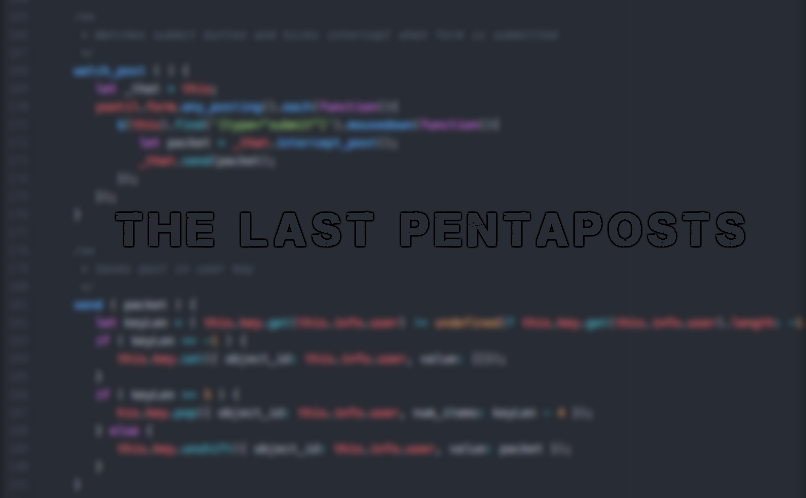 The Last Pentaposts