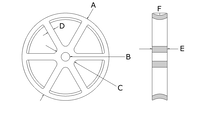 Wrought iron sheave schematic 6 spokes kopia.jpg