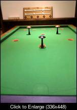Bar Billiards table at The Orange Tree pub in Bald