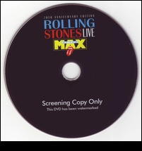 Live At The Max 2009 Remastering UK Promo DVD vers