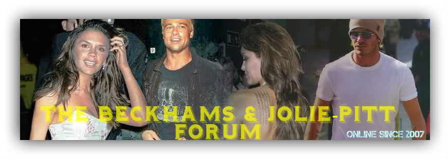 THE BECKHAMS AND JOLIE-PITT FORUM