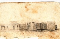 SKETCH Fulton's 1837 Alamo Church and Gate 1.jpg