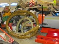 Rebuilding a Keene 5 inch triple floating dredge   Gold