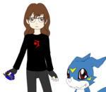 Leith, Veemon, and Shoutmon Avatar