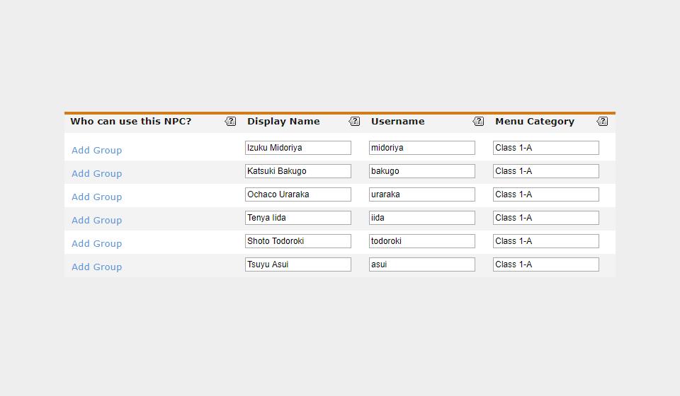 NPC Profiles System TDMc0pQcjiCAbYvtLjVZ